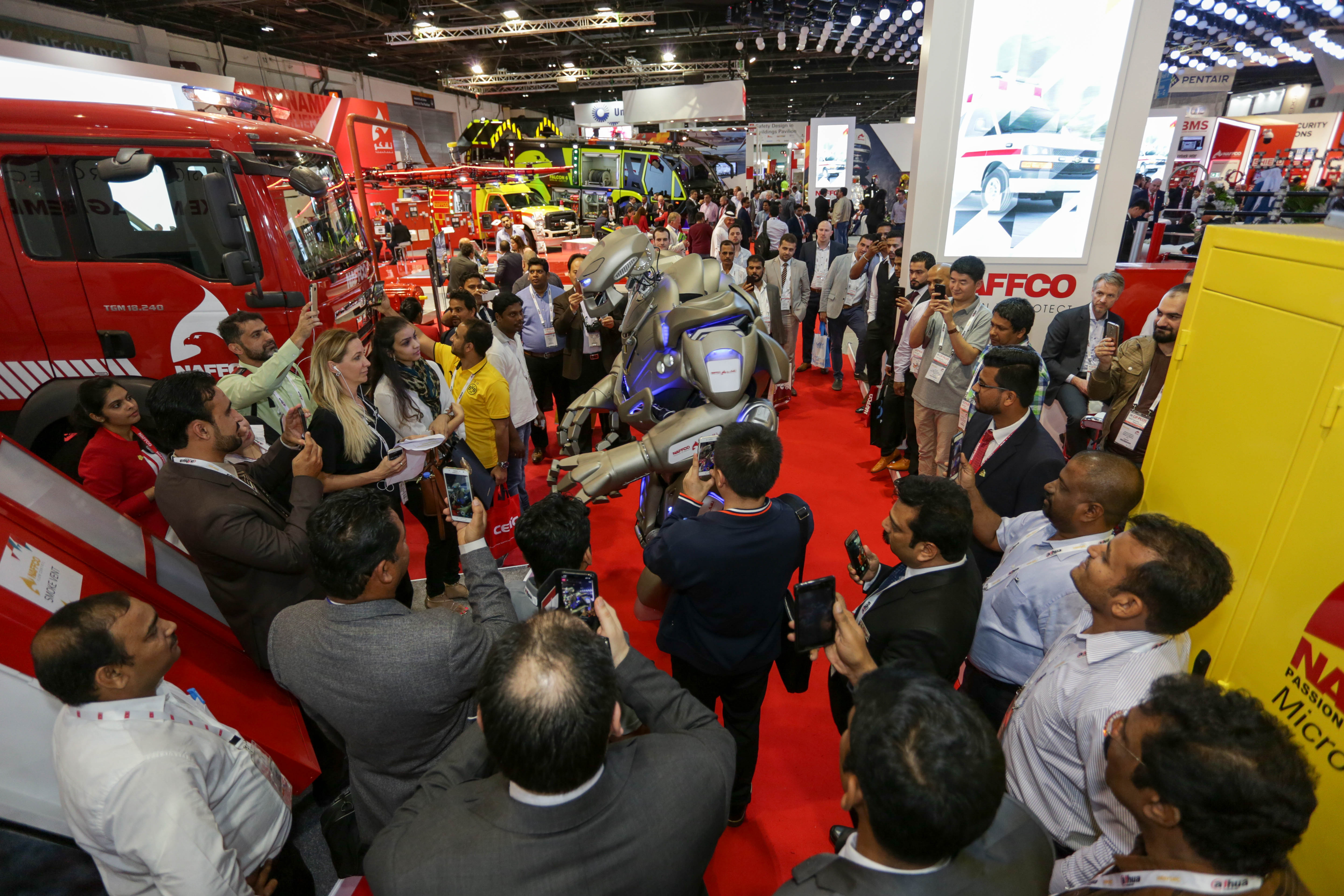 International visitors marvel at the latest technology to be seen at Intersec Dubai in January 2018