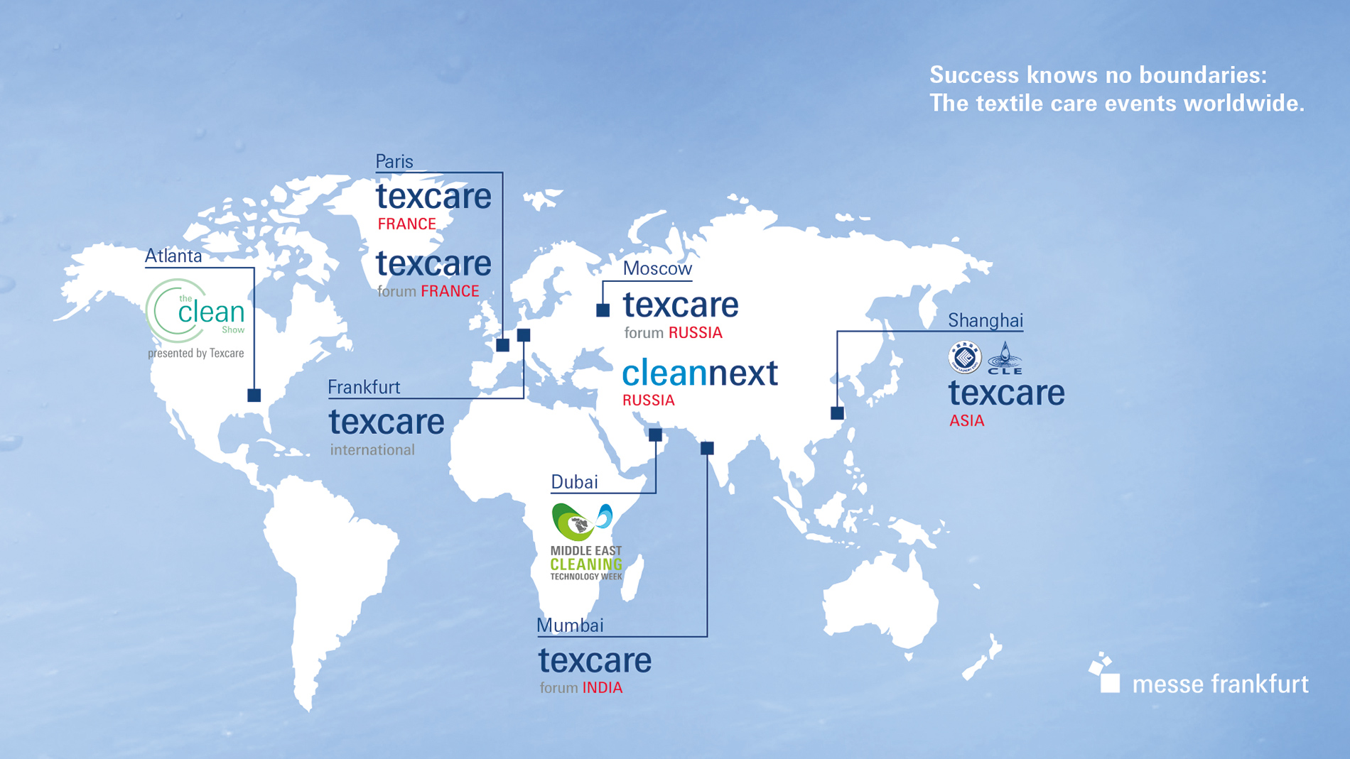 Map Texcare worldwide